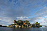 The karst limestone islands of the Misool region of Raja Ampat, Indonesia, Pacific Ocean