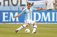 Argentina midfielder Javier Mascherano (14)  The Argentina National Team defeated Brazil 4-3 at MetLife Stadium, Saturday July 9 , 2012.