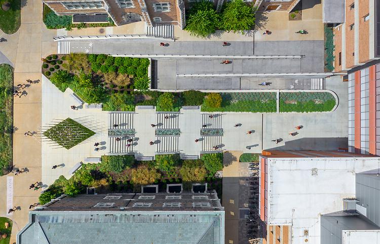 Bryan Hall & Forest Park Parkway Pedestrian Bridge<br /> Washington University in St. Louis (WashU) | Ayers Saint Gross