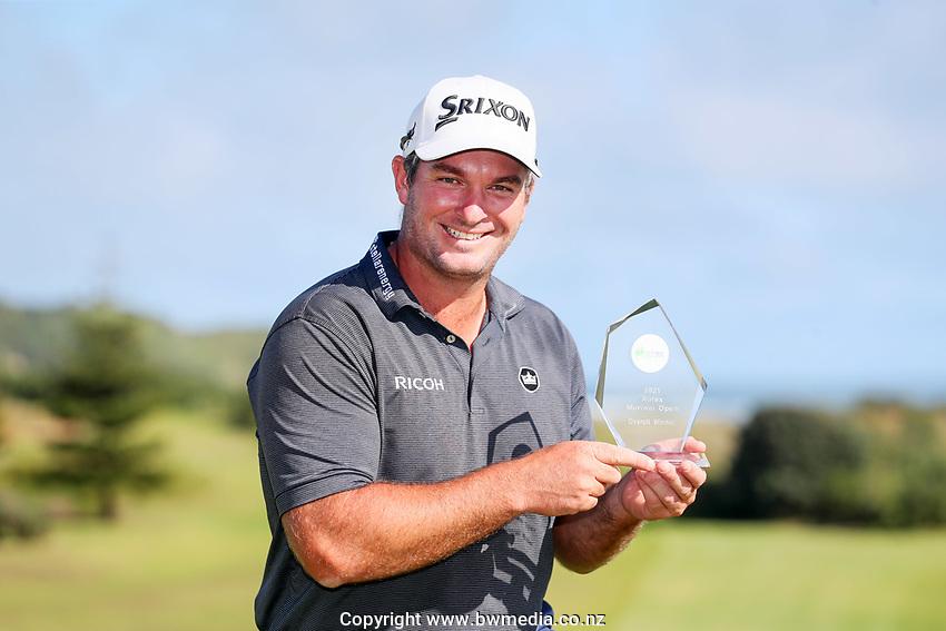 Ryan Fox wins the Autex Muriwai Golf Open, Muriwai Links, Auckland, New Zealand, Sunday 11 April 2021 Photo: Simon Watts/www.bwmedia.co.nz