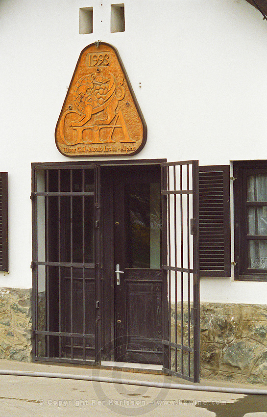 The Tibor Gal (GIA) winery in Eger (famous for Egri Bikaver): the unassuming front and entrance (with an iron gate) of the winery with a big sign saying GIA 1993 Tibor Gal, Nicolo Incisa, Alpina, the three founders. Nicolo. Tibor Gal is one of the leading growers and wine makers in Eger. The company was founded in 1993 in collaboration with Nicolo Incisa della Rochetta (Sassicaia, Italy) and Alpine from Germany