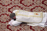 Monsignor Georg Gaenswein private secretary to Pope Benedict XVI after he was elevated as a bishop during the Epiphany mass in St. Peter's Basilica on January 6, 2013.