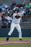 Chase Illig (21) of the Somerset Patriots at bat against the Altoona Curve at TD Bank Ballpark on July 24, 2021, in Somerset NJ. (Brian Westerholt/Four Seam Images)
