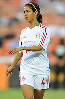 Christina Murillo (4) of Mexico during pre-game warmups. The USWNT defeated Mexico 7-0 during an international friendly, at RFK Stadium, Tuesday September 3 , 2013.