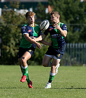 Saturday 26th September 2020 | Malone vs Ballynahinch<br /> <br /> Greg Hutley and Aaron Cairns on the attack for Ballynahinch during the Ulster Senior League fixture between Malone and Ballynahinch at Gibson Park, Belfast, Northern Ireland. Photo by John Dickson / Dicksondigital