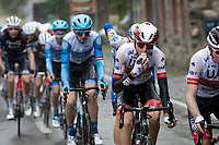 Team UAE-Emirates controlling the peloton (and fueling) for their favourite Pogačar<br /> <br /> 84th La Flèche Wallonne 2020 (1.UWT)<br /> 1 day race from Herve to Mur de Huy (202km/BEL)<br /> <br /> ©kramon