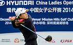 Ssu-Chia Cheng of Chinese Taipei in action during the Hyundai China Ladies Open 2014 on December 12 2014 at Mission Hills Shenzhen, in Shenzhen, China. Photo by Li Man Yuen / Power Sport Images
