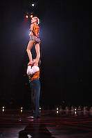 The Cirque du Soleil show Corteo holds a full dress rehershal at the Del Mar Race track on Thursday January 10 2008.   The show is scheduled to open on Friday, January 11 and will run through February 10.