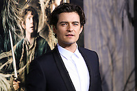 """HOLLYWOOD, CA - DECEMBER 02: Actor Orlando Bloom arrives at the Los Angeles Premiere Of Warner Bros' """"The Hobbit: The Desolation Of Smaug"""" held at Dolby Theatre on December 2, 2013 in Hollywood, California. (Photo by Xavier Collin/Celebrity Monitor)"""