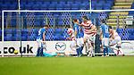 St Johnstone v Hamilton Accies...12.09.15  SPFL McDiarmid Park, Perth<br /> Lucas Tagliapietra gets Accies only goal<br /> Picture by Graeme Hart.<br /> Copyright Perthshire Picture Agency<br /> Tel: 01738 623350  Mobile: 07990 594431