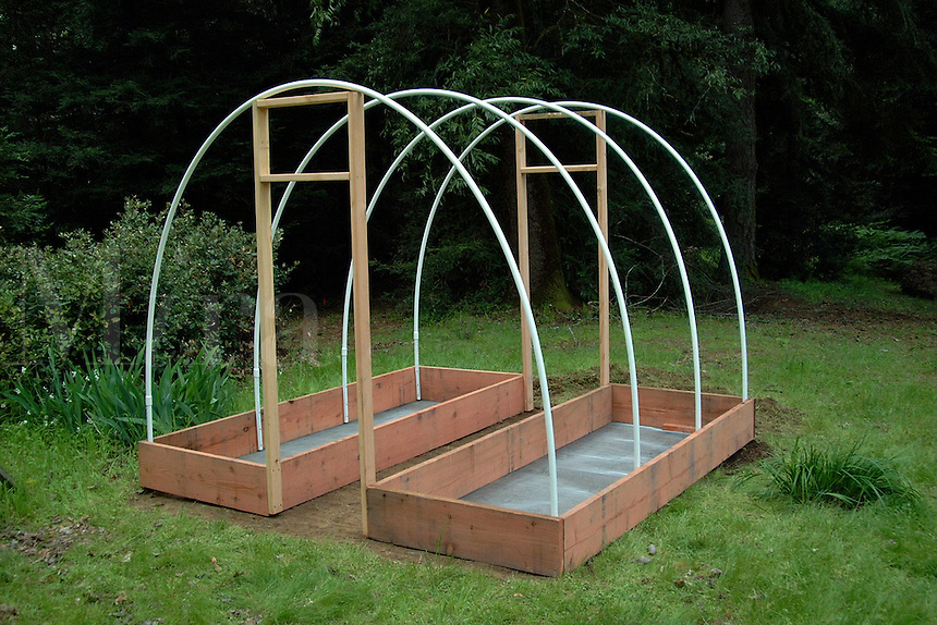 Residental greenhouse under construction, just before the skin is put on