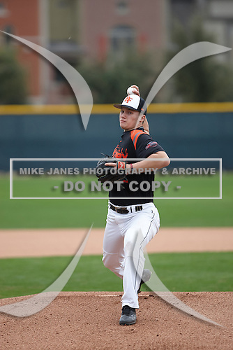Nick Brown (12) of ARCHBISHOP CURLEY High School in Pasadena, Maryland during the Under Armour All-American Pre-Season Tournament presented by Baseball Factory on January 15, 2017 at Sloan Park in Mesa, Arizona.  (Kevin C. Cox/Mike Janes Photography)