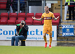 St Johnstone v Motherwell…17.12.16     McDiarmid Park    SPFL<br />Richard Tait celebrates his goal<br />Picture by Graeme Hart.<br />Copyright Perthshire Picture Agency<br />Tel: 01738 623350  Mobile: 07990 594431