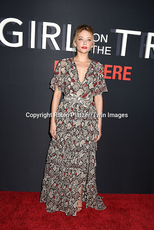 """actress Haley Bennett attends """"The Girl on the Train"""" New York Premiere on October 4, 2016 at Regal E-Walk Stadium 13 & RPX  in New York,New York,  USA.<br /> <br /> photo by Robin Platzer/Twin Images<br />  <br /> phone number 212-935-0770"""