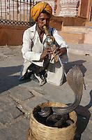 Schlangenbeschwörer in Jaipur (Rajasthan), Indien