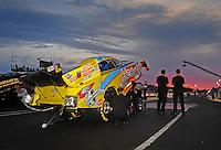 May 13, 2011; Commerce, GA, USA: NHRA funny car driver Jim Head waits to run during qualifying for the Southern Nationals at Atlanta Dragway. Mandatory Credit: Mark J. Rebilas-