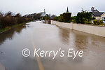 Road flooded in Ardfert village on Tuesday morning
