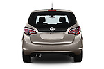 Straight Rear View 2014 Opel MERIVA Cosmo 5 Door Mini MPV 2WD Stock Photo