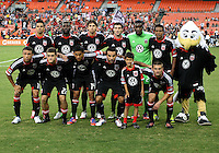 WASHINGTON, DC. - AUGUST 22, 2012:  Starting eleven of DC United against the Chicago Fire during an MLS match at RFK Stadium, in Washington DC,  on August 22. United won 4-2.