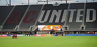 WASHINGTON, DC - AUGUST 25: D.C. United getting ready to play during a game between New England Revolution and D.C. United at Audi Field on August 25, 2020 in Washington, DC.