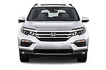Car photography straight front view of a 2018 Honda Pilot Touring 5 Door Suv Front View