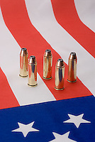 Bullets standing on American flag