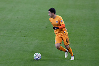ST PAUL, MN - OCTOBER 18: Memo Rodriguez #8 of Houston Dynamo during a game between Houston Dynamo and Minnesota United FC at Allianz Field on October 18, 2020 in St Paul, Minnesota.