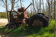 Old tractor at at Wagon Hill Farm in Durham, New Hampshire USA.