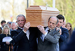 The coffin is carried from the cathedral to a crypt, by relatives following the funeral mass of Bishop Eamonn Casey in Galway. Photograph by John Kelly.