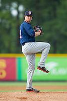 Elizabethton Twins starting pitcher Stephen Gonsalves (51) in action against the Burlington Royals at Burlington Athletic Park on June 25, 2014 in Burlington, North Carolina.  The Twins defeated the Royals 8-0. (Brian Westerholt/Four Seam Images)