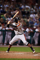 Aberdeen IronBirds third baseman Willy Yahn (6) at bat during a game against the Tri-City ValleyCats on August 27, 2018 at Joseph L. Bruno Stadium in Troy, New York.  Aberdeen defeated Tri-City 11-5.  (Mike Janes/Four Seam Images)
