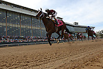 April 10, 2015: #2 Untapable before crossing the finish line in the Apple Blossom Handicap at Oaklawn Park in Hot Springs, AR. Justin Manning/ESW/CSM
