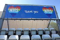 Thank You NHS banner on display during Worcestershire CCC vs Essex CCC, LV Insurance County Championship Group 1 Cricket at New Road on 2nd May 2021