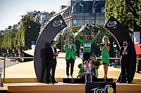 Green Jersey / points leader Mark Cavendish (GBR/Deceuninck - Quick Step) celebrated in Paris, 10 years after winning his other green jersey.<br /> <br /> Stage 21 (Final) from Chatou to Paris - Champs-Élysées (108km)<br /> 108th Tour de France 2021 (2.UWT)<br /> <br /> ©kramon