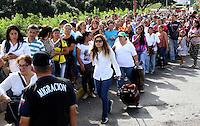 CUCUTA- PUENTE INTERNACIONAL  SIMÓN BOLÍVAR-COLOMBIA, 09-07- Situación del puente esta mañana cuando el presidente de Venezuela Nicolas Maduro abrió la frontrera  con Colombia por una horas para que los venezolanos de la zona se abastecieran de mercados en Colombia . Photo:VizzorImage / Manuel Hernández / Contribuidor