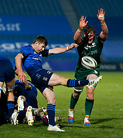 2nd January 2021; RDS Arena, Dublin, Leinster, Ireland; Guinness Pro 14 Rugby, Leinster versus Connacht; Luke McGrath (c) of Leinster clears the ball and kicks forward