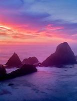 Sunset at Seal Rock, Oregon