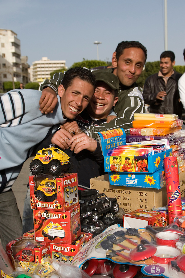 Tripoli, Libya - Young Libyan Men Selling Gifts, Holiday Market, Muhammad's Birthday