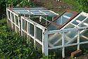 Allotment cold frame made from old windows.