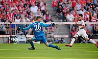 12.05.2018, Football 1. Bundesliga 2017/2018, 34.  match day, FC Bayern Muenchen - VfB Stuttgart, in Allianz-Arena Muenchen. re: Anastasios Donis (Stuttgart) goal  2:1  -  goalkeeper Sven Ulreich (FC Bayern Muenchen). *** Local Caption *** © pixathlon<br /> <br /> +++ NED + SUI out !!! +++<br /> Contact: +49-40-22 63 02 60 , info@pixathlon.de