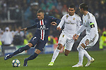 Kylian Mbappe of PSG and Sergio Ramos of Real Madrid