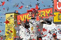 9-10 July, 2016 Newton, Iowa USA<br /> Winner Josef Newgarden (#21) celebrates in Victory Lane.<br /> ©2016, F. Peirce Williams