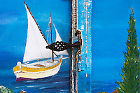 Europe/Provence-Alpes-Côte d'Azur/83/Var/Hyères/Gien: Détail de la porte d'une boutique