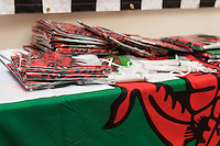 STORY BY STEVEN MORRIS SWANSEA, UK. 5th July 2015. Welsh flags in mrflag.com which has seen an increase in sales during the tournament.