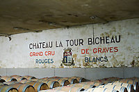 barrel aging cellar chateau la tour bichot graves bordeaux france