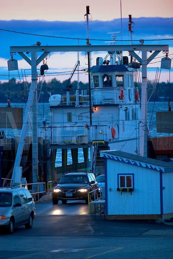Grand Isle, VT ferry going to Plattsburgh NY on Lake Champlain