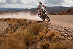 Motorcycle rider Matthias Walkner from Austria riding his KTM bike during the 5th stage of the Dakar Rally 2016 in the Bolivian Altiplano.