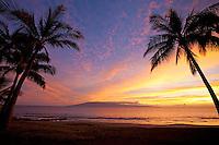 Sunset at Waihikuli Beach, Lahaina, Maui.