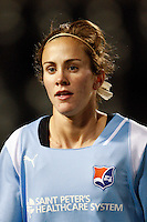 Keeley Dowling (17) of Sky Blue FC. Sky Blue FC and FC Gold Pride played to a 1-1 tie during a Women's Professional Soccer match at TD Bank Ballpark in Bridgewater, NJ, on April 11, 2009.