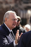 Former Canadian Prime Minister Paul martin<br /> attend<br /> the funerals of Jean Lapierre, former politician and media,<br />  April 16, 2016 in Outremont.<br /> <br /> Photo : Pierre Roussel - Agence Quebec Presse<br /> <br /> <br /> <br /> <br /> <br /> <br /> <br /> <br /> .